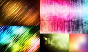 炫丽缤纷光效抽象创意背景矢量素材
