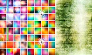 炫彩马赛克风格的抽象背景矢量素材
