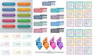 立体质感创意信息图表创意矢量素材