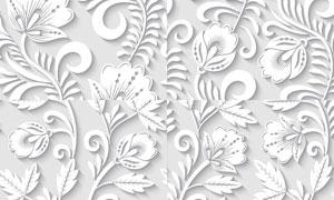 立体效果花纹图案无缝背景矢量素材