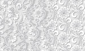 质感四方连续花纹图案背景矢量素材