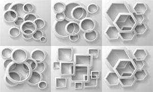 多邊形等幾何圖形創意設計矢量素材