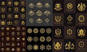 金色尊贵风格标签图案设计矢量素材