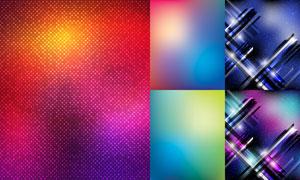 炫丽缤纷抽象背景创意矢量素材集V4