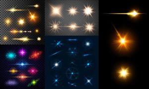 多款炫丽光效元素设计矢量素材集V09