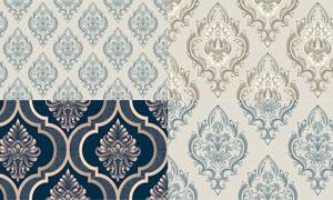 欧式怀旧风格花纹装饰图案矢量素材