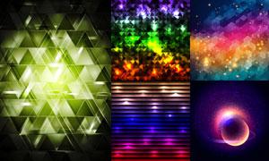 缤纷炫丽效果抽象背景创意矢量素材