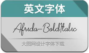 Afrida-BoldItalic(英文字体)