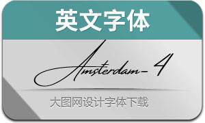 AmsterdamFourSlant(英文字体)