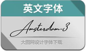 AmsterdamThreeSlant(英文字体)