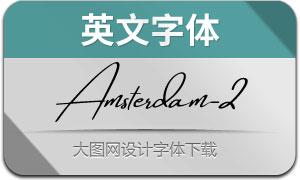 AmsterdamTwoSlant(英文字体)