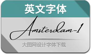AmsterdamOneSlant(英文字体)