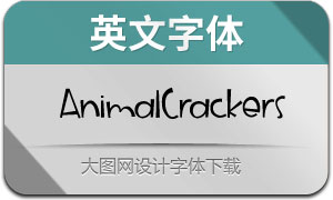 AnimalCrackers(英文字体)