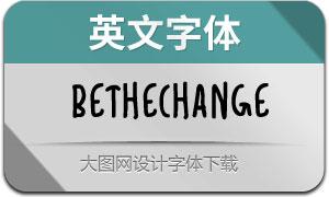 BeTheChange(英文字体)