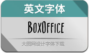 BoxOffice(英文字体)