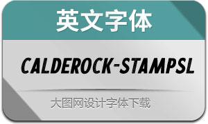 Calderock-StampSlant(英文字体)