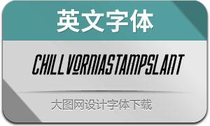 Chillvornia-StampSlant(英文字体)