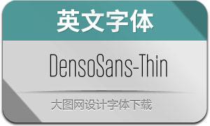 DensoSans-Thin(英文字体)