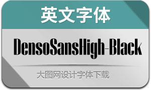DensoSansHigh-Black(英文字体)