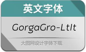 GorgaGrotesque-LightIt(英文字体)