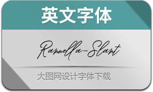 Ranuella-SlantItalic(英文字体)