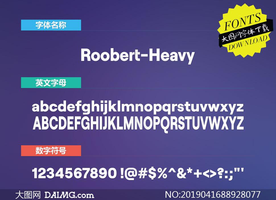 Roobert-Heavy(英文字体)