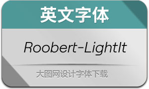 Roobert-LightItalic(英文字体)