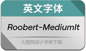 Roobert-MediumItalic(英文字体)