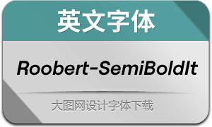 Roobert-SemiBoldItalic(英文字体)