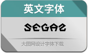 Segaz(英文字体)