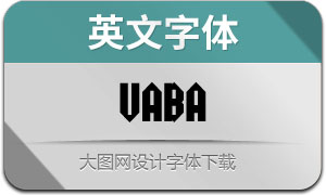 Vaba(英文字体)