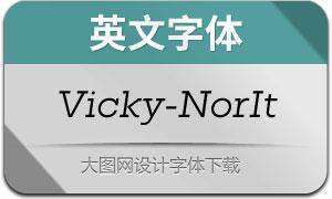 Vicky-NormalItalic(英文字体)