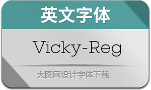 Vicky-Regular(英文字体)