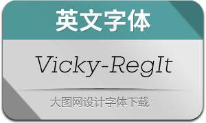 Vicky-RegularItalic(英文字体)