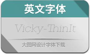 Vicky-ThinItalic(英文字体)