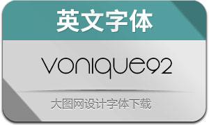 Vonique92(英文字体)