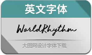 WorldRhythm(英文字体)