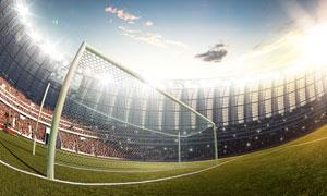 在超广角镜头下的球场摄影高清图片