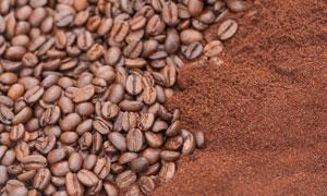 精选品质咖啡豆咖啡粉摄影高清图片