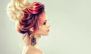 盘发造型模特人物美女摄影高清图片