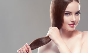 头发护理主题美女人物摄影高清图片
