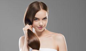 柔韧秀发美女模特人物摄影高清图片