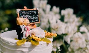 婚庆现场适用蛋糕特写摄影高清图片