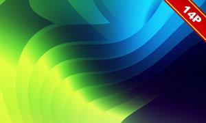 炫丽缤纷波形抽象创意背景高清图片