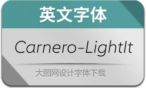 Carnero-LightItalic(英文字体)