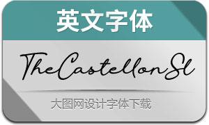 TheCastellonSlant(英文字体)