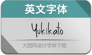 Yukikato(英文字体)