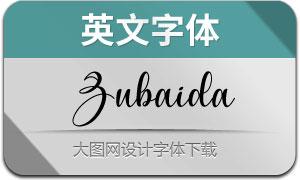 Zubaida(英文字体)