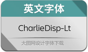 CharlieDisplay-Light(英文字体)