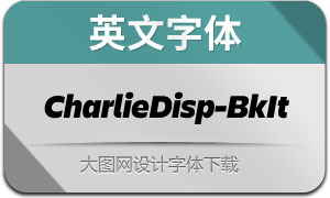 CharlieDisplay-BlackItalic(英文字体)